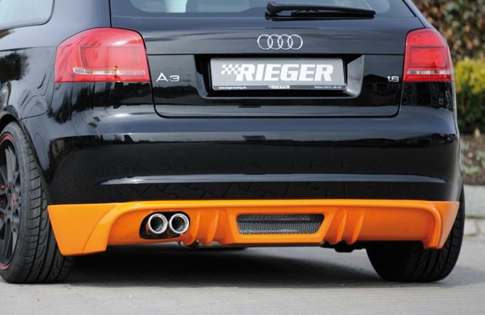 Rieger Heckschürzenansatz für Audi A3 (8P) - 7463