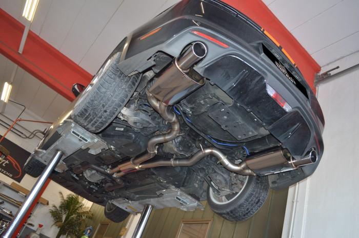 2x76mm Duplex-Anlage mit Klappensteuerung für Ford Mustang VI