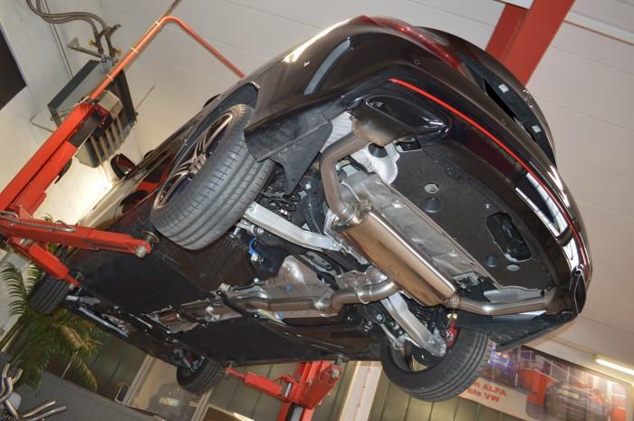 76mm Duplex-Anlage mit Klappensteuerung für Mercedes C117 CLA-Klasse Coupe