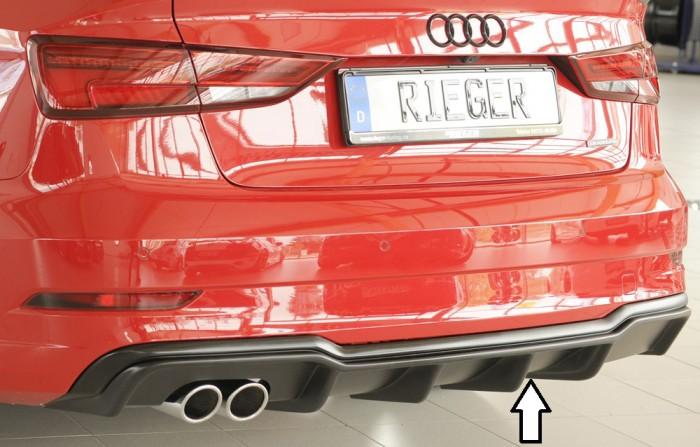 Rieger Heckeinsatz für Audi A3 (8V) - 7337