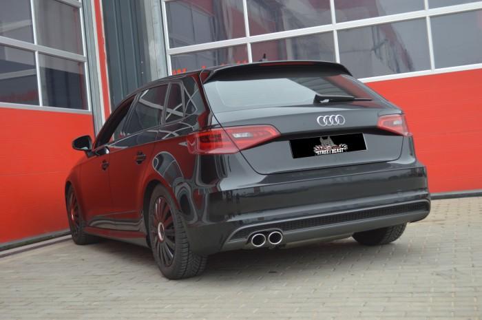 76mm Single-Anlage mit Soundgenerator für Audi A3 8V Sportback Frontantrieb