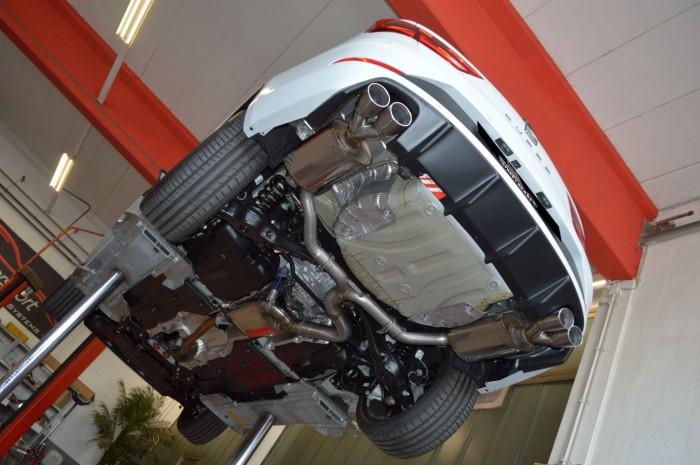 76mm Duplex-Anlage mit Klappensteuerung für Seat Leon 5F ST Cupra 4drive