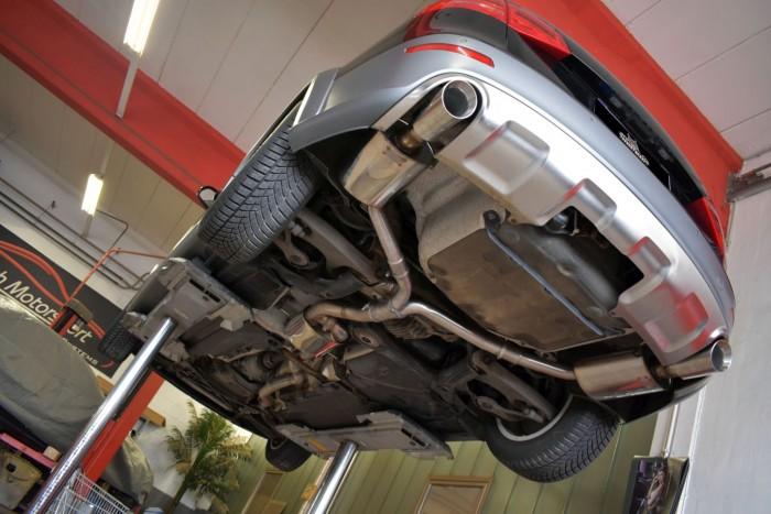 76mm Duplex-Anlage mit Klappensteuerung für Audi A4 B8 Allroad