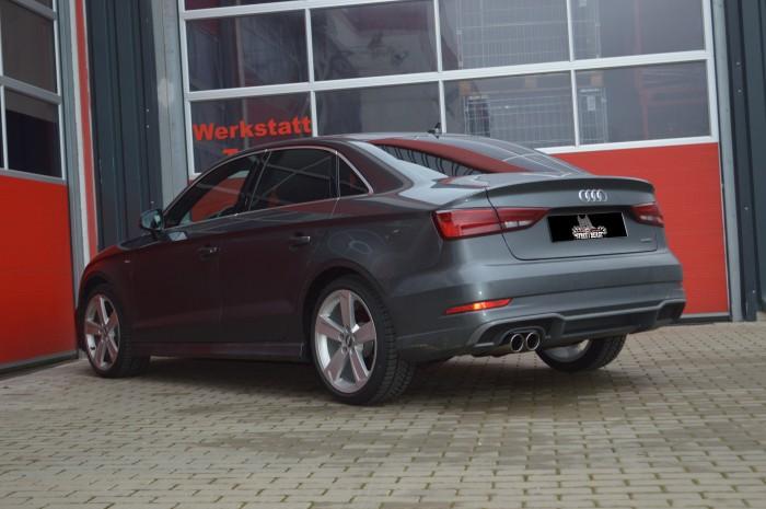 76mm Single-Anlage mit Soundgenerator für Audi A3 8V Limousine Frontantrieb