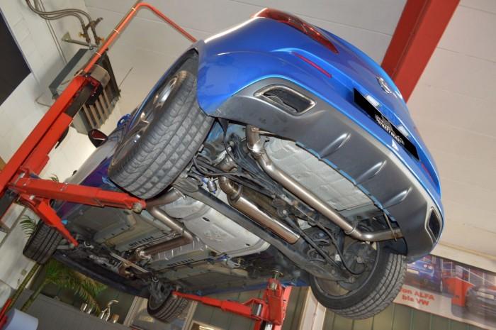 76mm Duplex-Anlage mit Klappensteuerung für Opel Astra J OPC