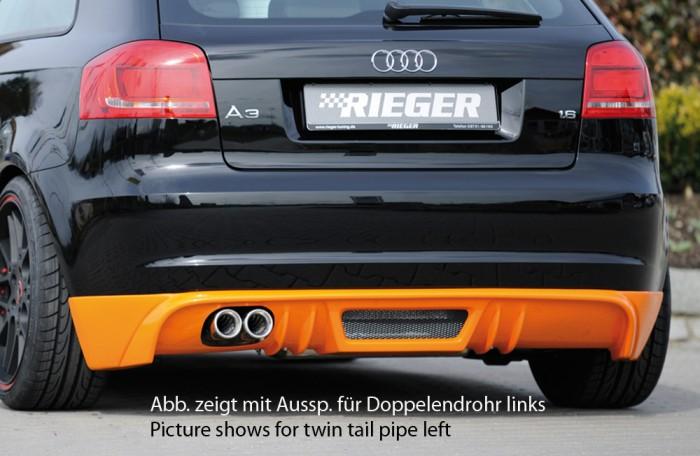 Rieger Heckschürzenansatz für Audi A3 (8P) - 7465