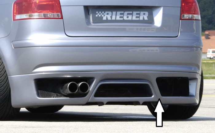 Rieger Heckansatz für Audi A3 (8P) - 7518