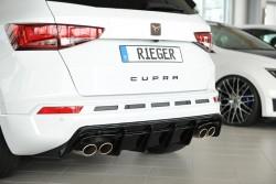 Rieger Heckeinsatz sw matt für Seat Cupra Ateca (5FP) ab 09/2018