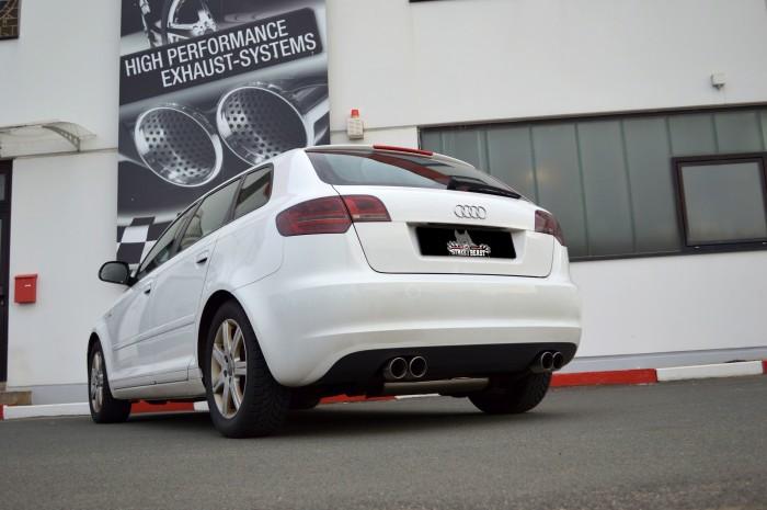 76mm Duplex-Anlage mit Klappensteuerung für Audi A3 8P Sportback