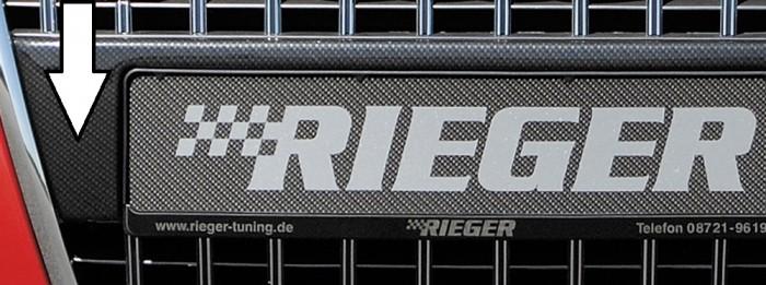Rieger Kennzeichenauflage aus ABS/Carbon-Look für Audi A3 (8P) - 5708