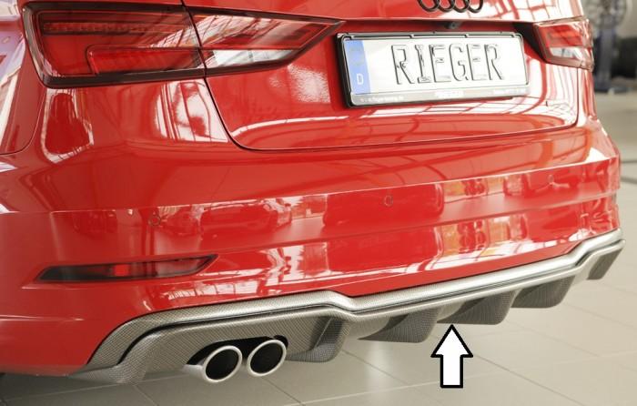 Rieger Heckeinsatz für Audi A3 (8V) - 4746