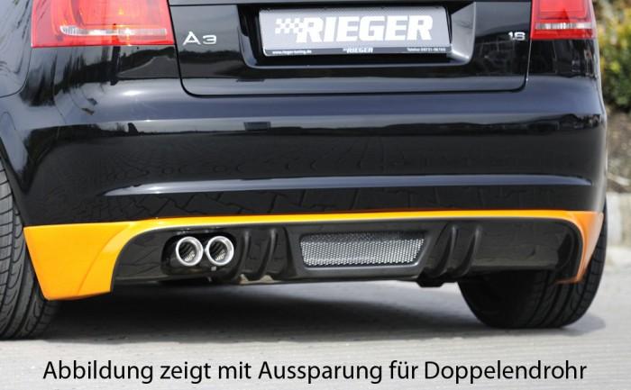 Rieger Heckschürzenansatz für Audi A3 (8P) - 4422