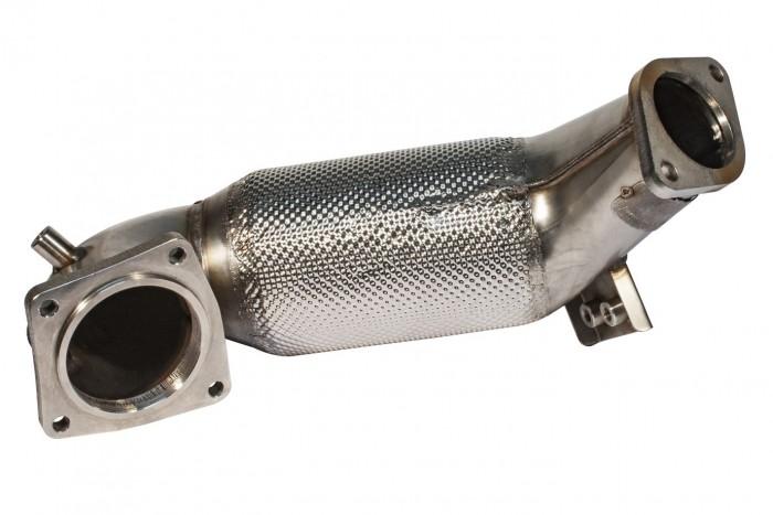 89>>>70mm Downpipe mit 300 Zellen HJS Sport-Kat.