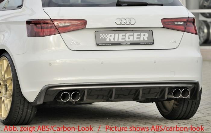 Rieger Heckeinsatz für Audi A3 (8V) - 7441