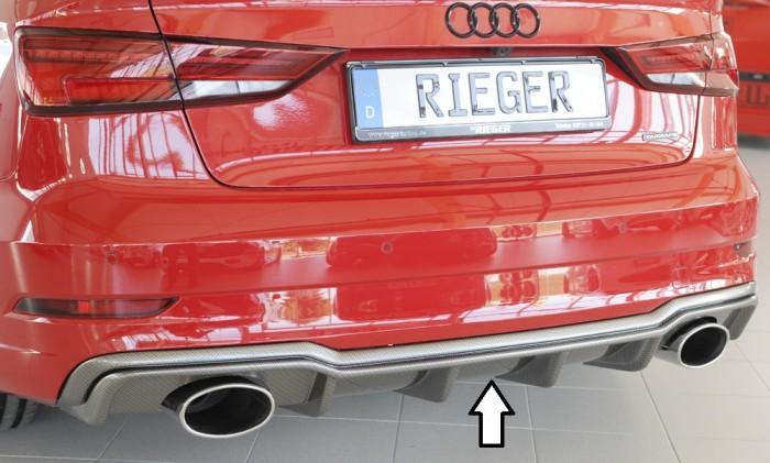 Rieger Heckeinsatz für Audi A3 (8V) - 4738