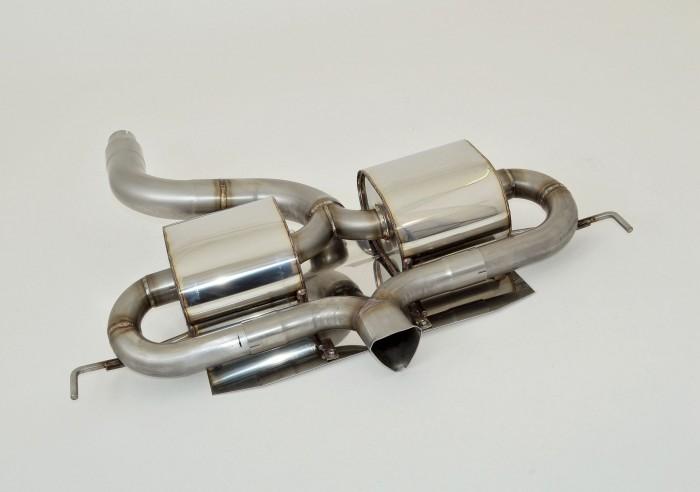 76mm Duplex-Sportendschalldämpfer mittig