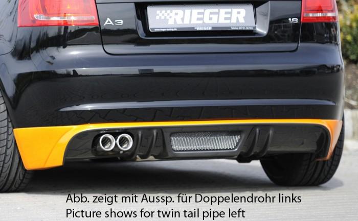 Rieger Heckschürzenansatz für Audi A3 (8P) - 4420