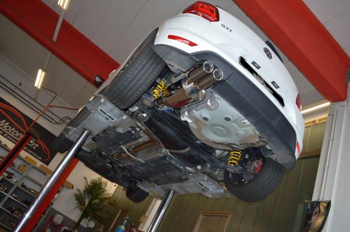 70mm Single-Anlage mit Klappensteuerung für VW Polo 6R Facelift / 6C GTI