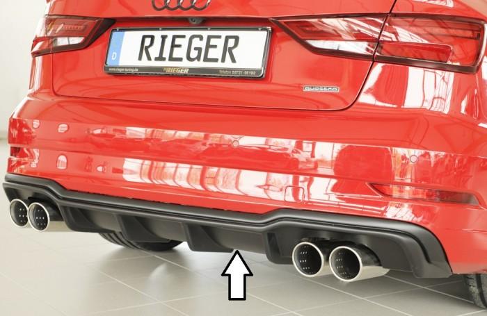 Rieger Heckeinsatz für Audi A3 (8V) - 7333