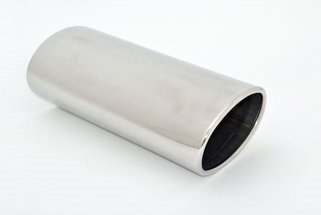Endrohr 95x152mm oval seitlich abgeschrägt rechts