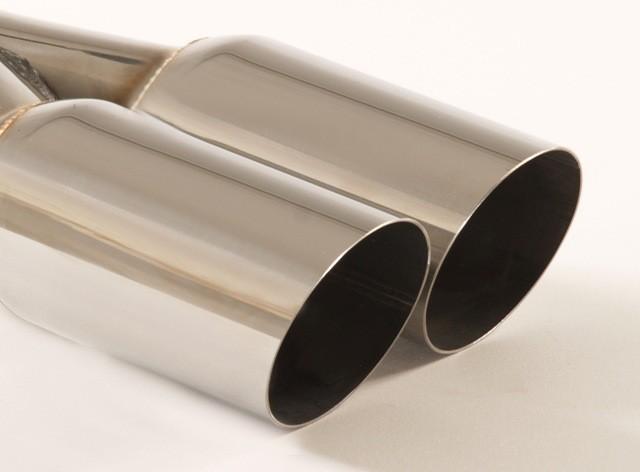Endrohr 2x76mm rund scharfkantig abgeschrägt
